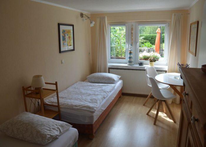 Ostseeappartements kleines Schlafzimmer